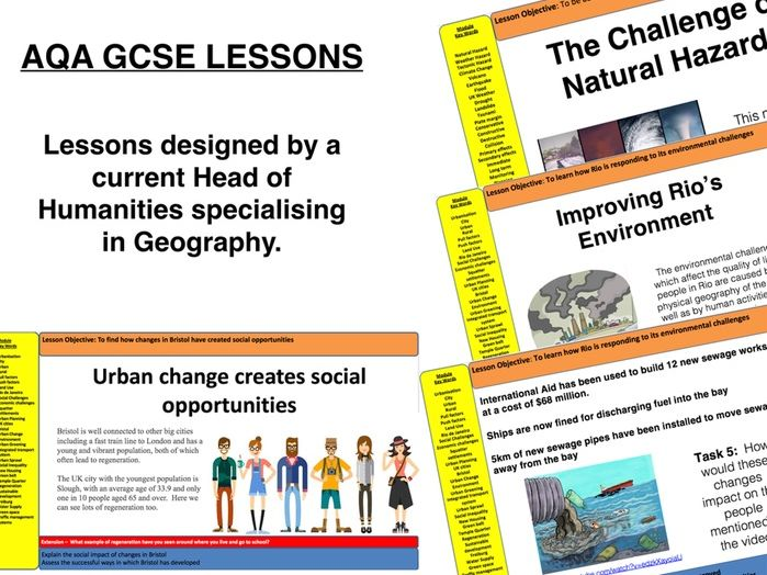 AQA Geography GCSE - Urban Issues and Challenges  - NEE City - Rio de Janeiro (6 lessons)