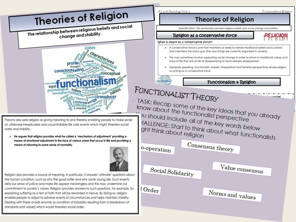 AQA Sociology - Year 2 - Beliefs in Society - Functionalism and religion