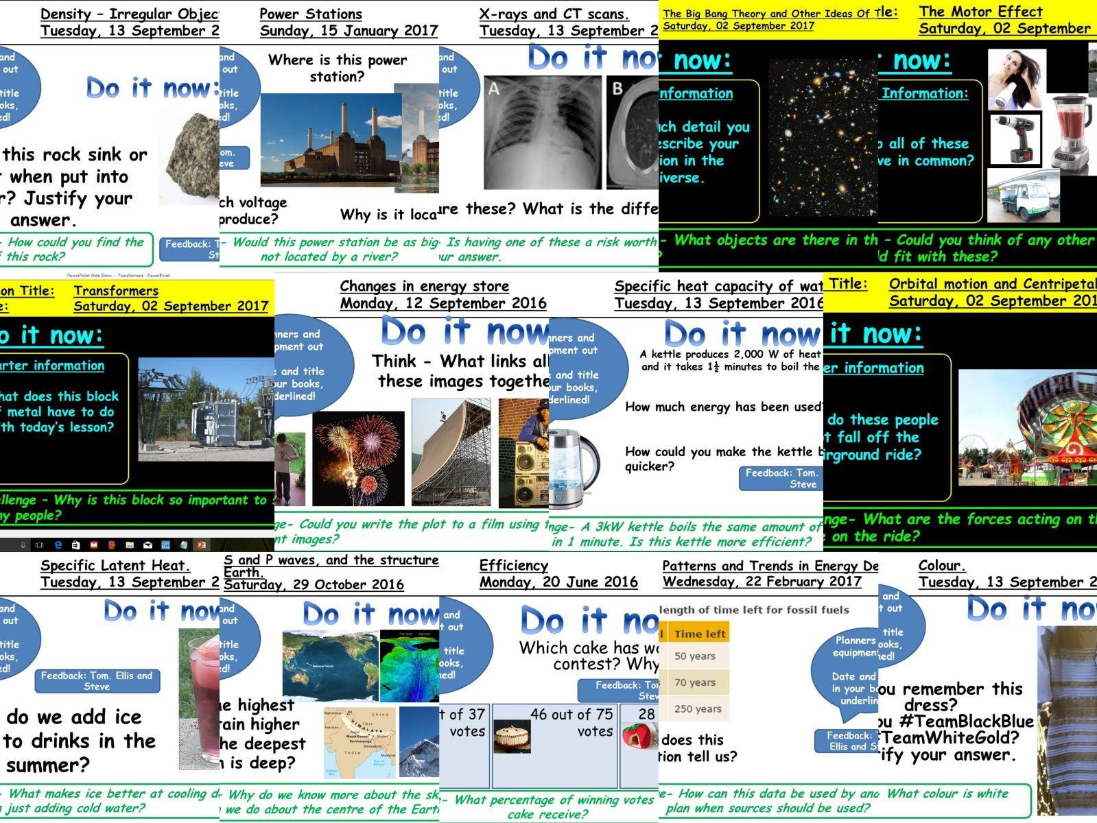 AQA New GCSE Physics Bundle - Units 4.1/4.3/4.6/4.7/4.8 (49 Lessons)