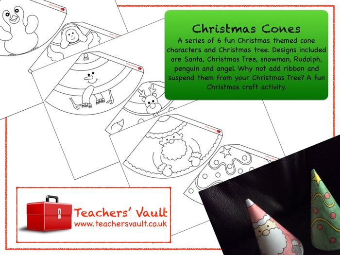 Christmas Character Cones