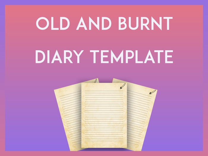 Old and Burnt Diary Template