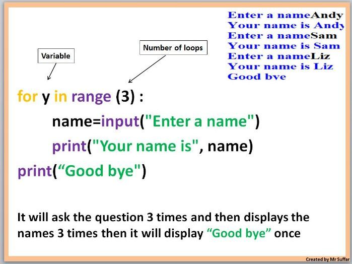 Python FOR LOOP and Trace Table Lessons - 32 Tasks - Video Of Each Task - KS3 AND KS4