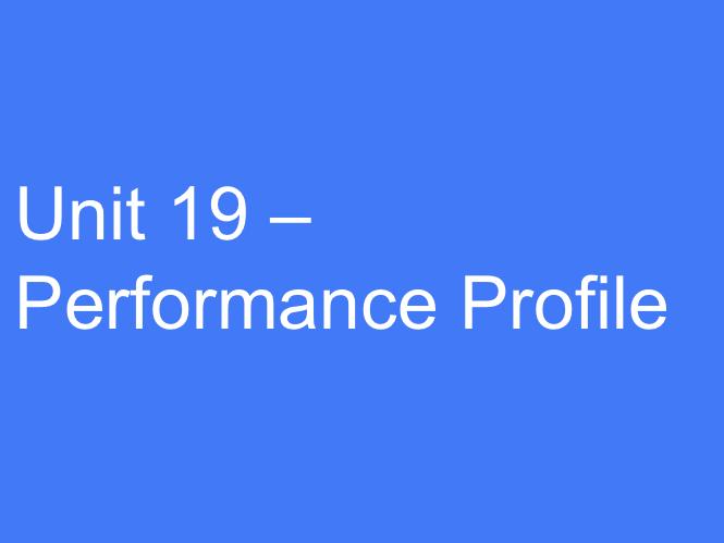 BTEC Sport L3 (Unit 19): Performance Profile (Tasks: P1, M1 and D1).