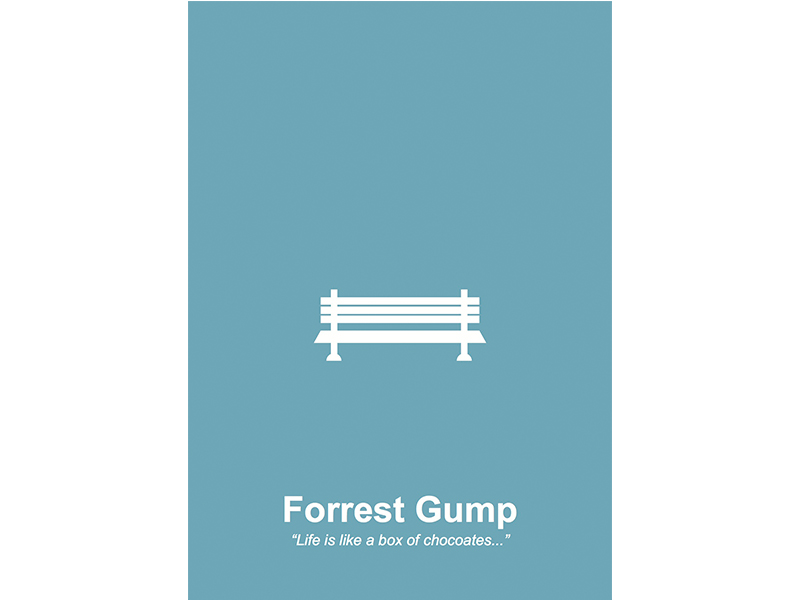 FORREST GUMP POSTER - ILLUSTRATED