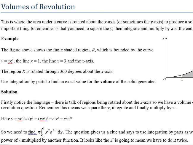 C4 Integration Revision Guide Edexcel