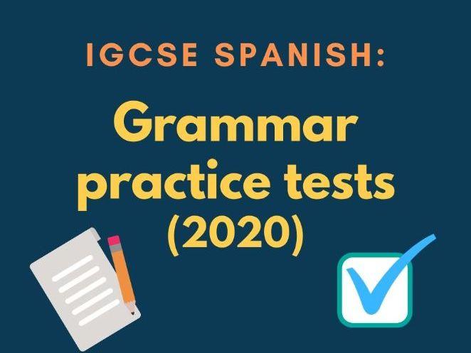 IGCSE Spanish grammar practice tests: 32 tests