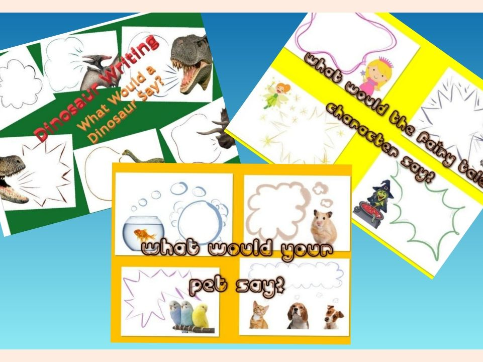 Speech Bubble Writing Frames - What Would the...... Say?