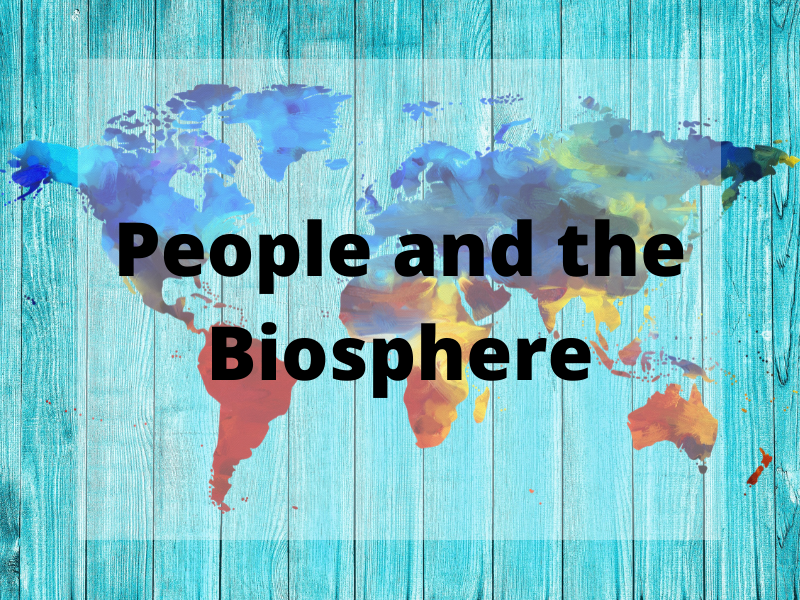 GCSE Geography Edexcel B - Personalised Learning Checklist (PLC) - People and the Biosphere