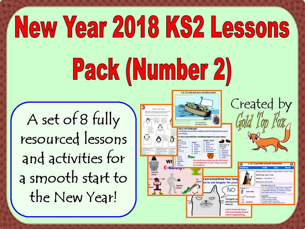 New Year 2018 KS2 Lessons Pack (Number 2)