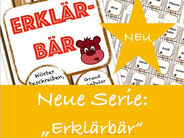 ERKLÄRBÄR-Spiel: Obst & Gemüse, Deutsch/German fruits & vegetables game, speaking and describing