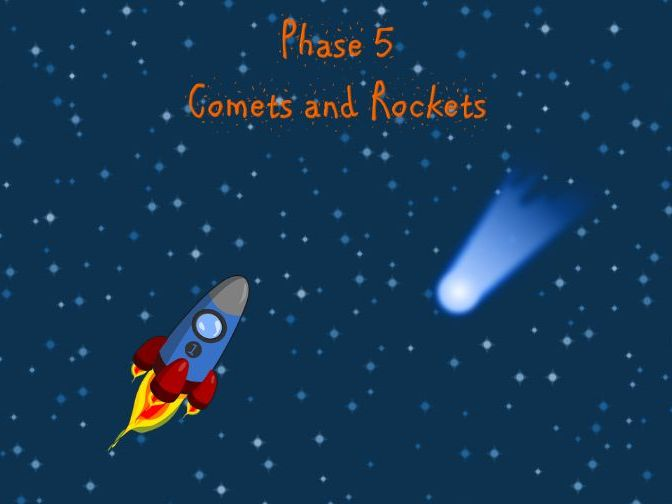 Phonics Screening - Phase 5 Comets and Rockets (Alien Words)