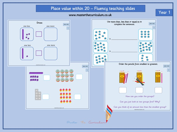 Year 1- Autumn term- Block 4- Place value teaching slides - White rose style