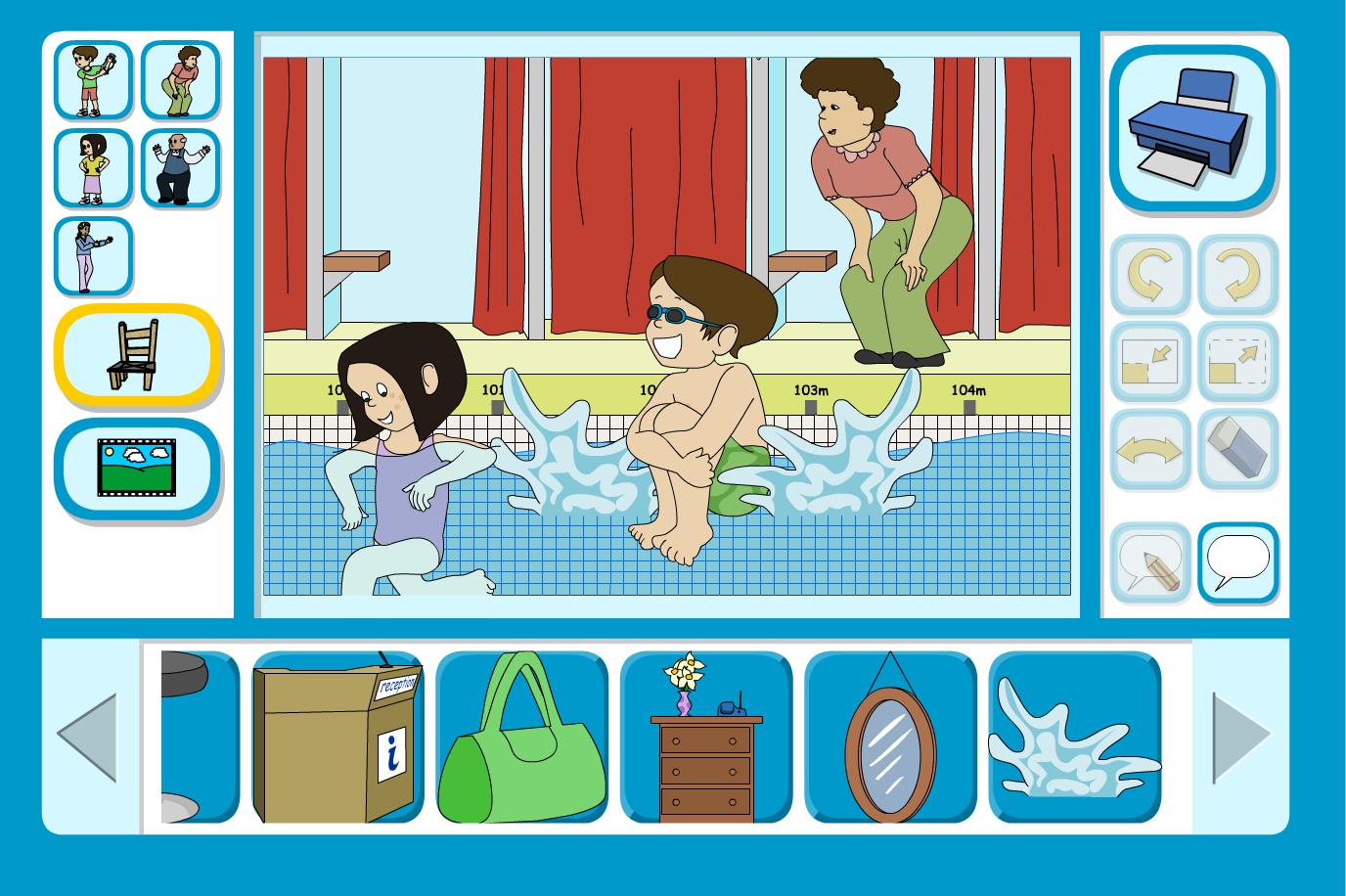Sam Goes Swimming Scene Focus - Interactive Activity - KS1 Literacy