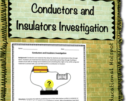 Conductors and Insulators Investigation Lab