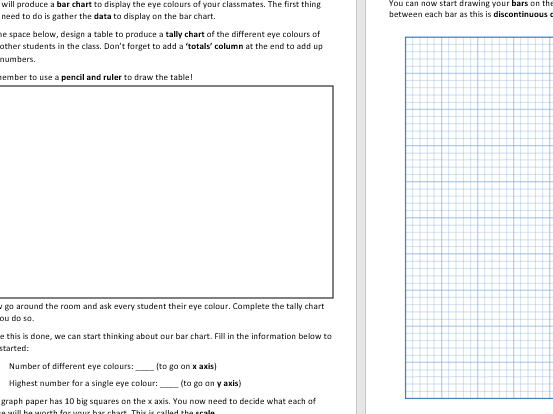 Maths in Science - Producing a Bar Chart