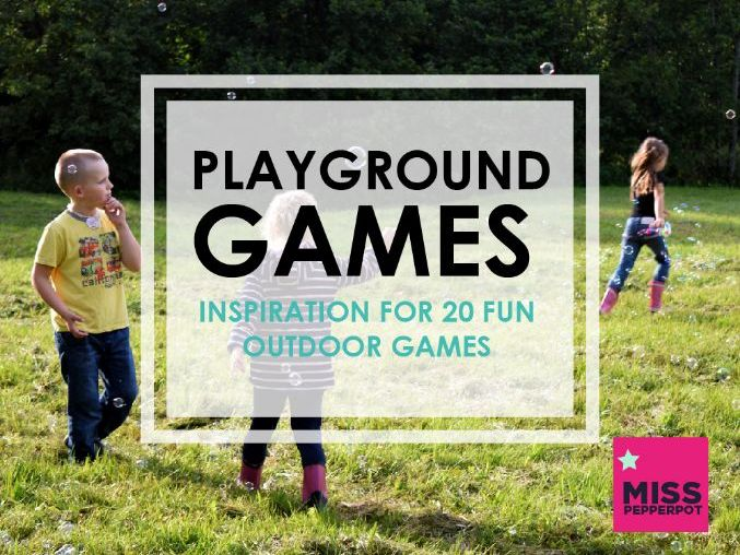 Playground Game Ideas, Outdoor Games, Booklet of 20 Outdoor Games