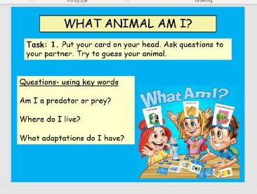 Predator and Prey- What am i? game, with Arebic translation