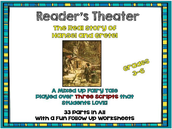 3- Readers Theater: Hansel and Gretel the Real Story - Plus Before and After CCSS Aligned Lessons