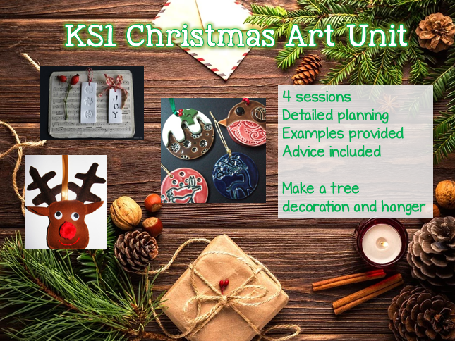KS1 CHRISTMAS Art Unit - 4 sessions