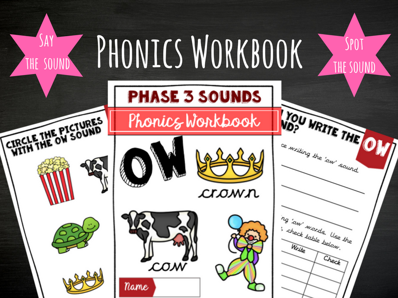 'Ow' Phonics Workbook