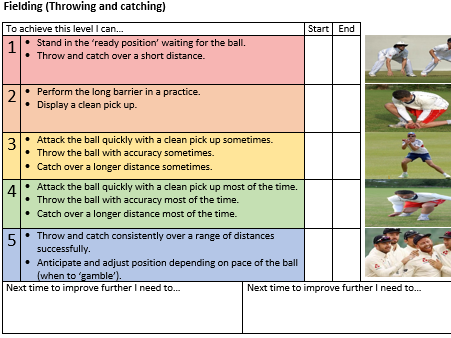 Cricket - Fielding resource sheet