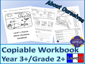 About Ourselves - Level 1 French Workbook