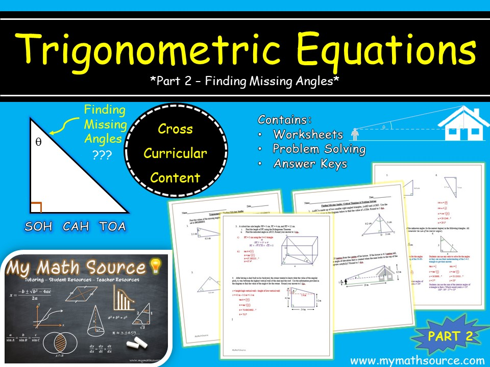 Trigonometric Equations: Part 2 - Finding Missing Angles