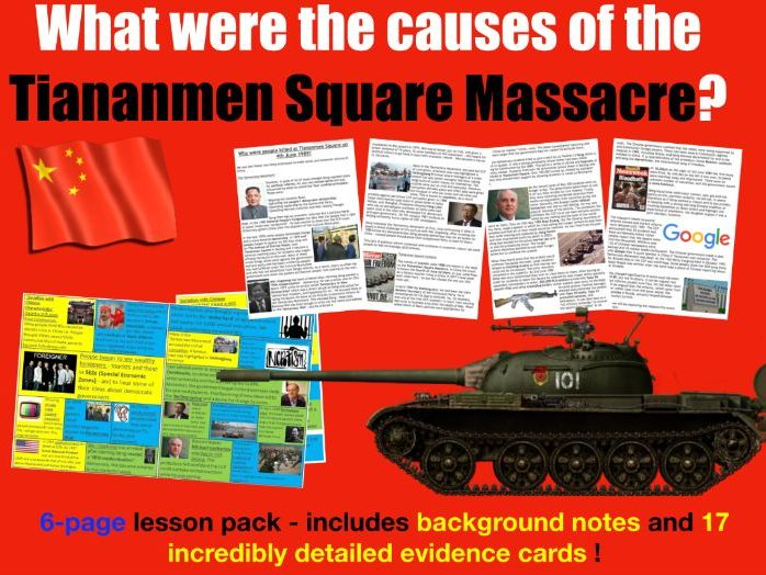 Tiananmen Square - 6 page lesson pack