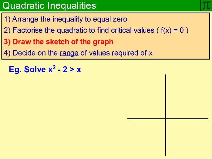 Quadratic Inequalities - Flipchart