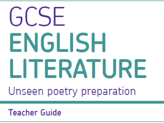 AQA Unseen Poetry - Full Scheme of 14 Lessons