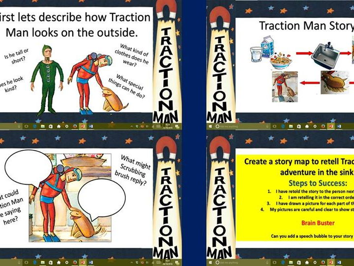 Traction Man Literacy planning for KS1