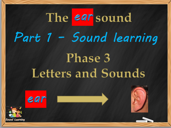 Teach the EAR sound: phonics, reading, spelling and writing.