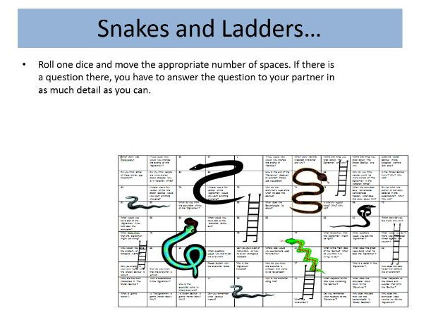 Year 9 'A Christmas Carol' Snakes and Ladders Revision