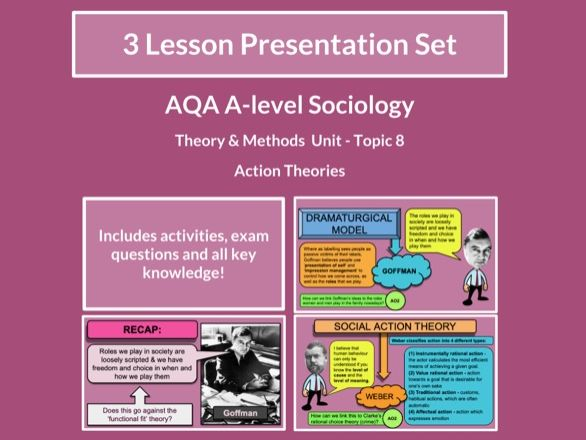 Action Theories - AQA A-level Sociology - Theory and Methods - Topic 8