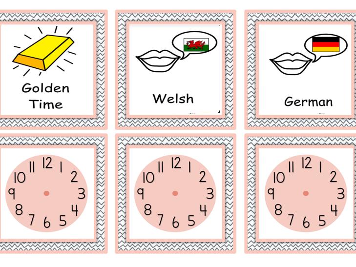 Boho style Visual Timetable
