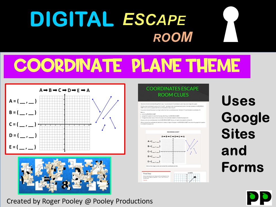 Digital Escape Room - Coordinate Plane theme