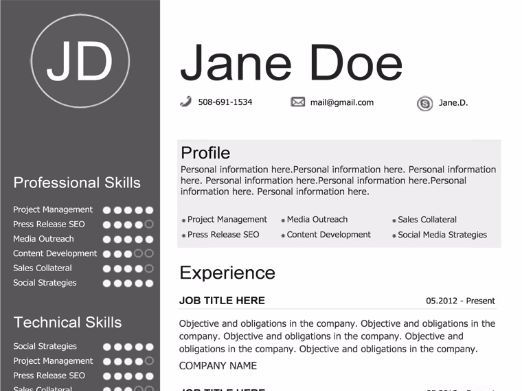 Gray Resume Template