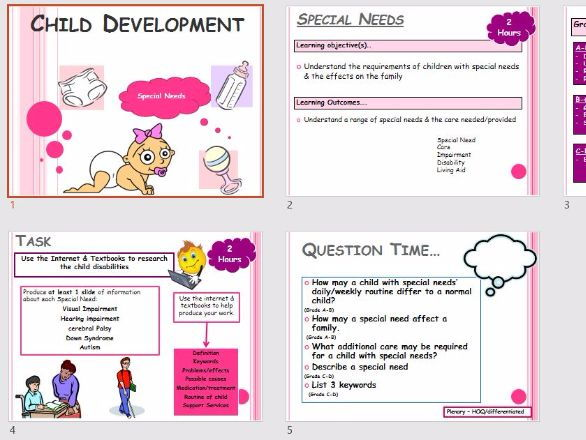 Child Development Health & Social Care - Child Disabilities & Special Needs Research Task - 2 Hour