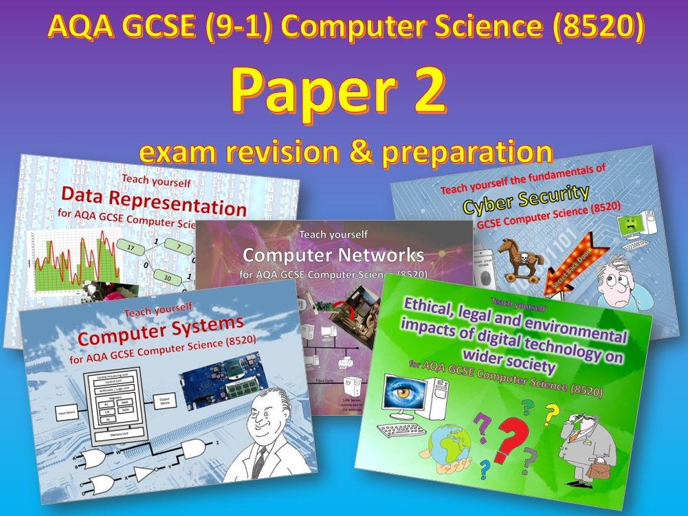 Computer Science AQA GCSE (9-1) Paper 2 exam preparation workbooks