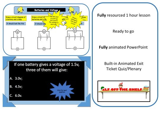 Electricity - Adding Batteries Affects Voltage in Circuits KS3 - Fully Resourced Lesson