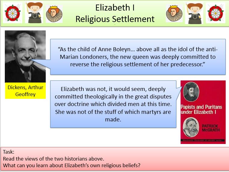 Elizabeth I - The Religious Settlement