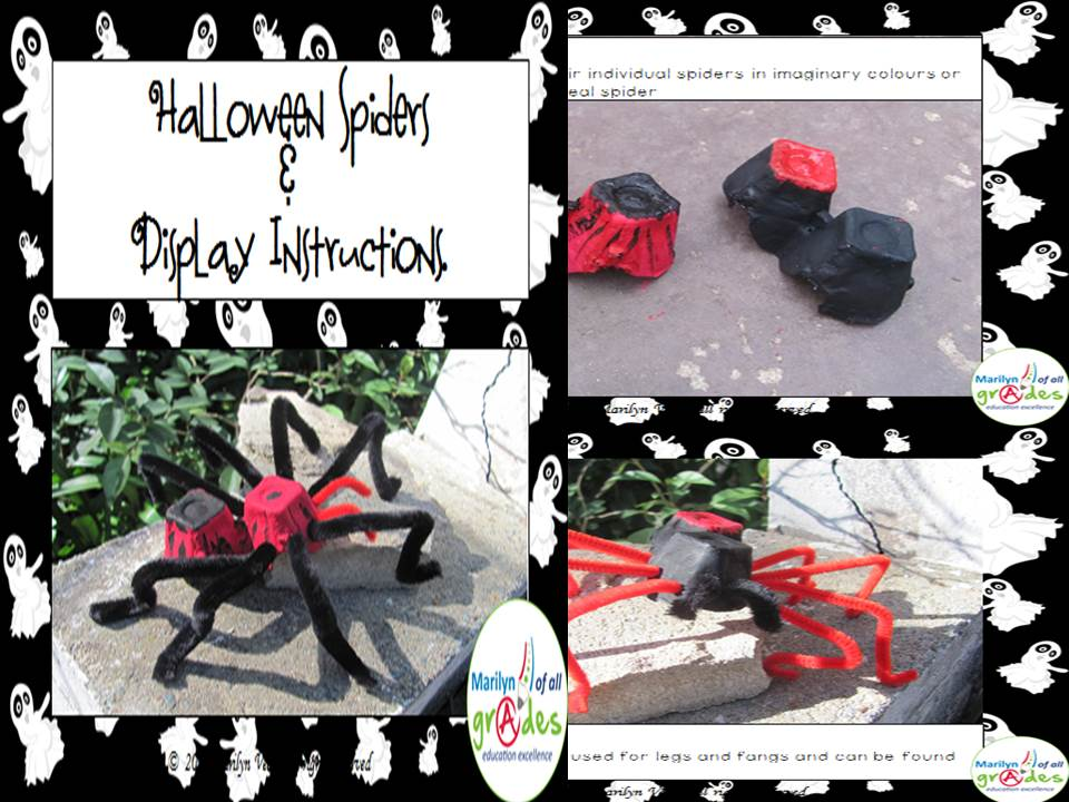 Free Halloween Spiders to Make