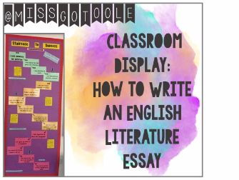How to Write an English Essay - Classroom Display