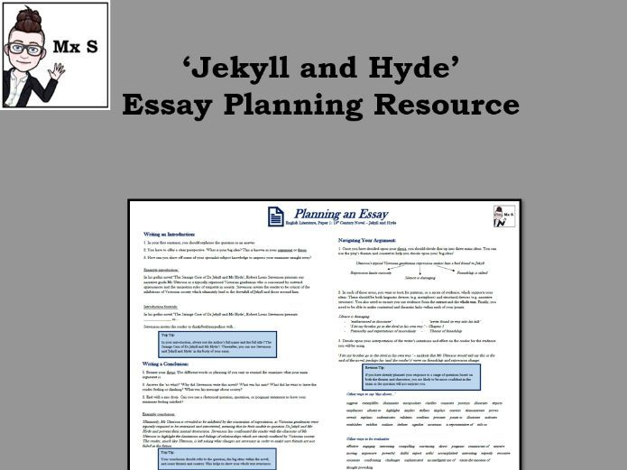 Jekyll and Hyde - Essay Planning Knowledge Organiser