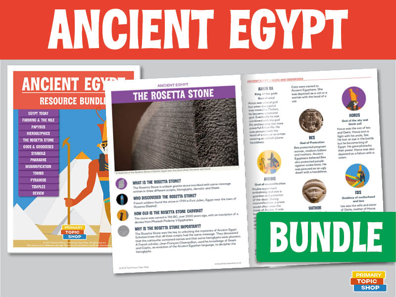Ancient Egypt - Handout, Worksheet and Activity Bundle