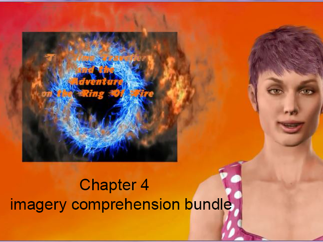 Ch 4 visual imagery comprehension bundle for The Time Traveller and the Adventure on the Ring of Fire
