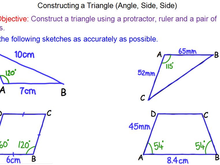 Constructions – Side, Angle, Side
