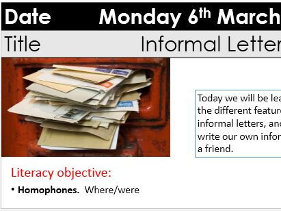 Informal Letters - KS3 Y9 transactional writing