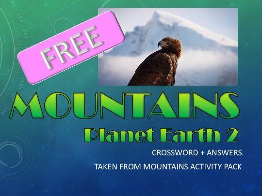 FREE - BBC Planet Earth 2 - Crossword