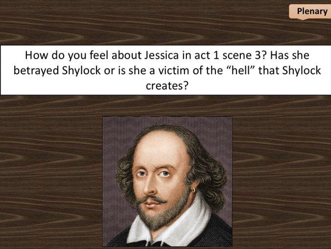 Merchant of Venice - act 2 scene 3 (Jessica's character)